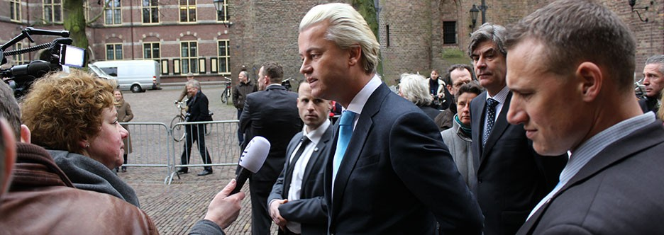 Geert Wilders, leader of the Party for Freedom (PVV)