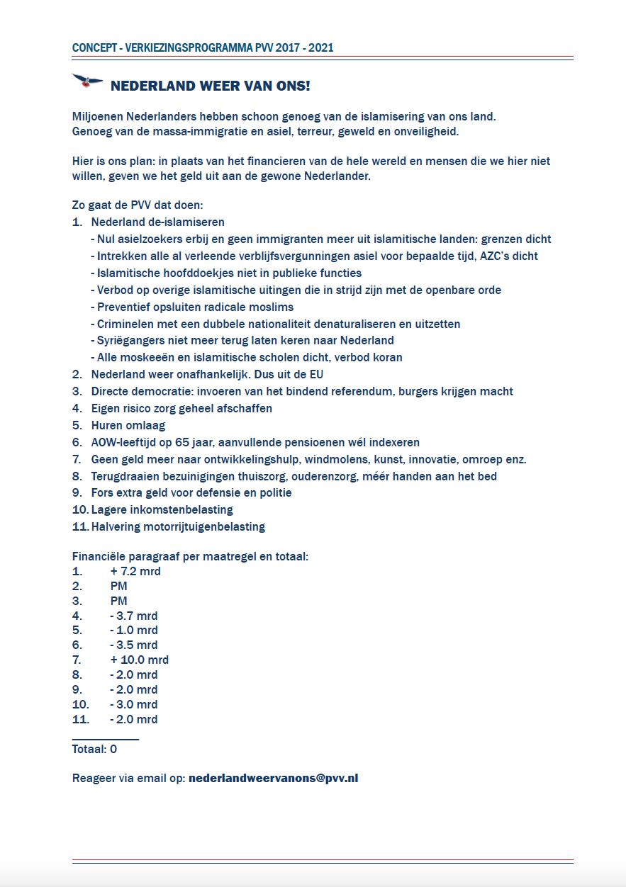 Conceptverkiezingsprogrammma 2017 2021
